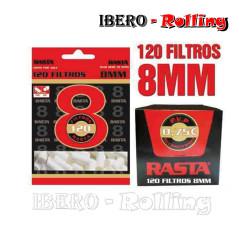 FILTROS RASTA 8MM 120 -...